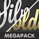 Gold & Silver Photoshop Text Style Mega Pack