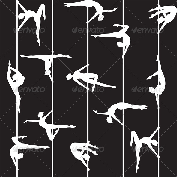 GraphicRiver Pole Dancer Silhouette 4686963