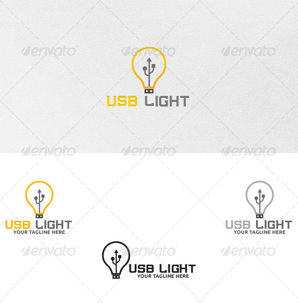 GraphicRiver USB Light Logo Template 4656903