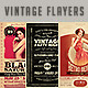 Vintage & Retro Flyers Bundle 2 - GraphicRiver Item for Sale