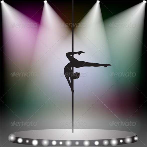 GraphicRiver Pole Dancer on Stage 4687030