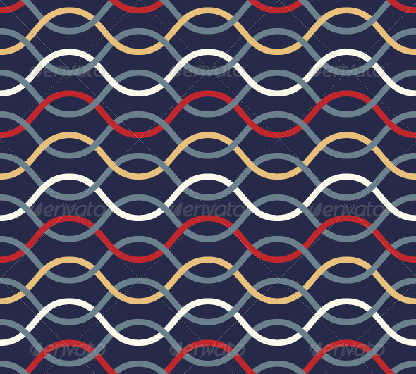 GraphicRiver Retro Wavy Seamless Pattern 4687031