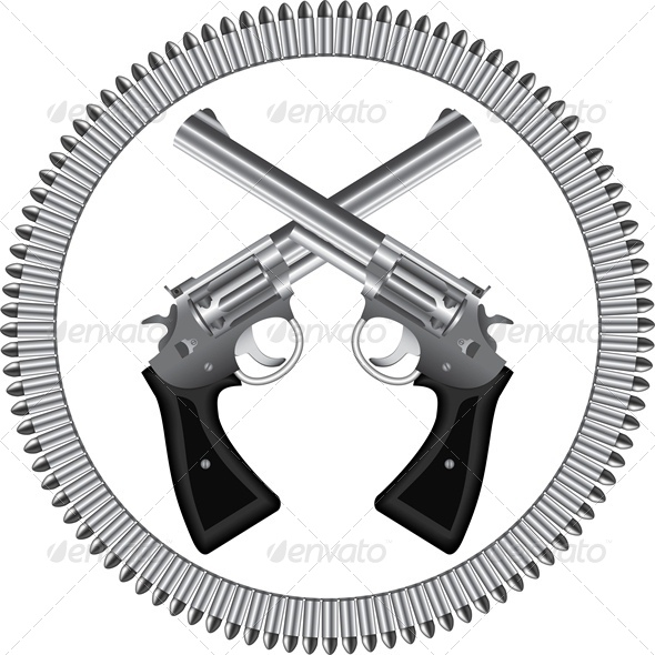 GraphicRiver Revolvers and Bullets 4687095
