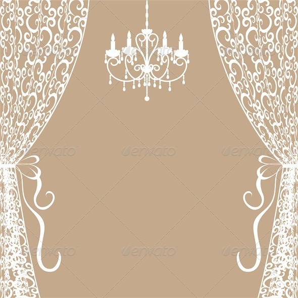 GraphicRiver Chandelier and Curtains 4687105