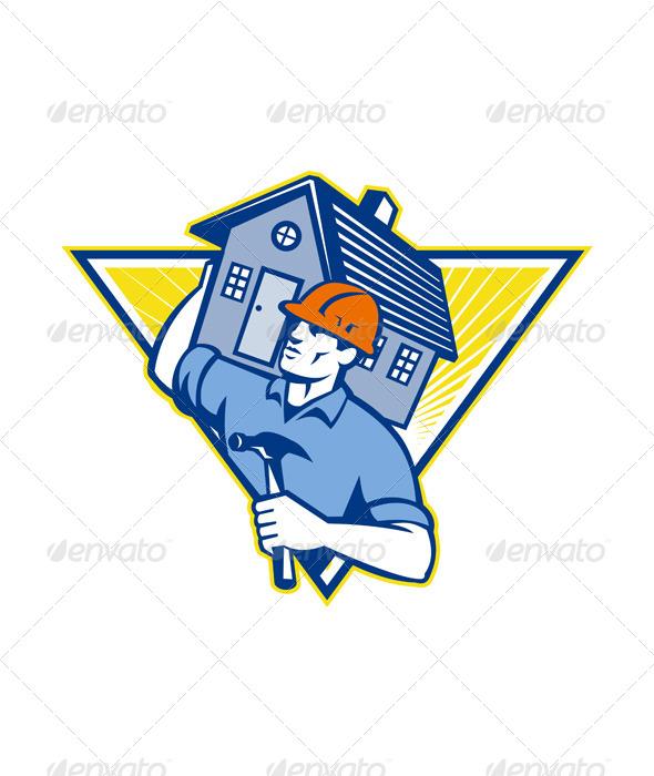 GraphicRiver Builder Construction Worker Hammer 4687367