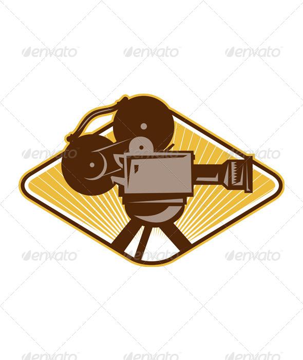 GraphicRiver Vintage Movie Film Camera Retro 4687401