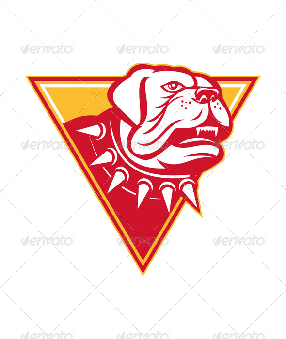 GraphicRiver English Mastiff Dog Mongrel Head 4687404