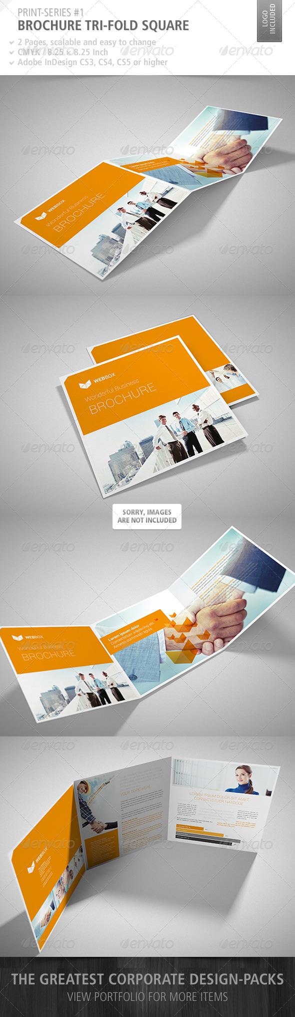 GraphicRiver Brochure Tri-Fold Square Print-Series #1 4687474
