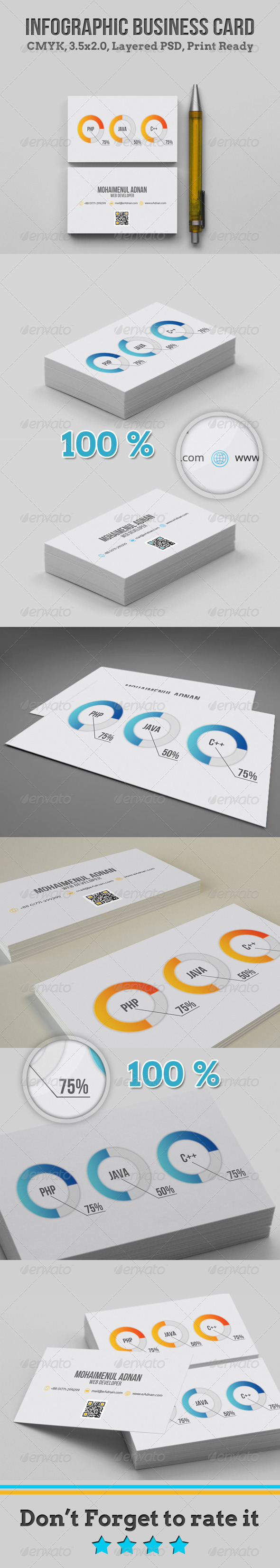 GraphicRiver Infographic Business Card 4687552
