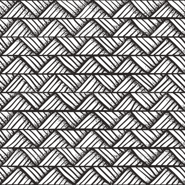 Hand Drawn Monochrome Pattern Graphicriver