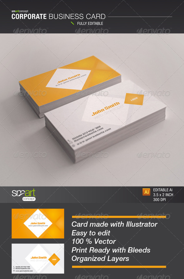 GraphicRiver Corporate Business Card 3958699