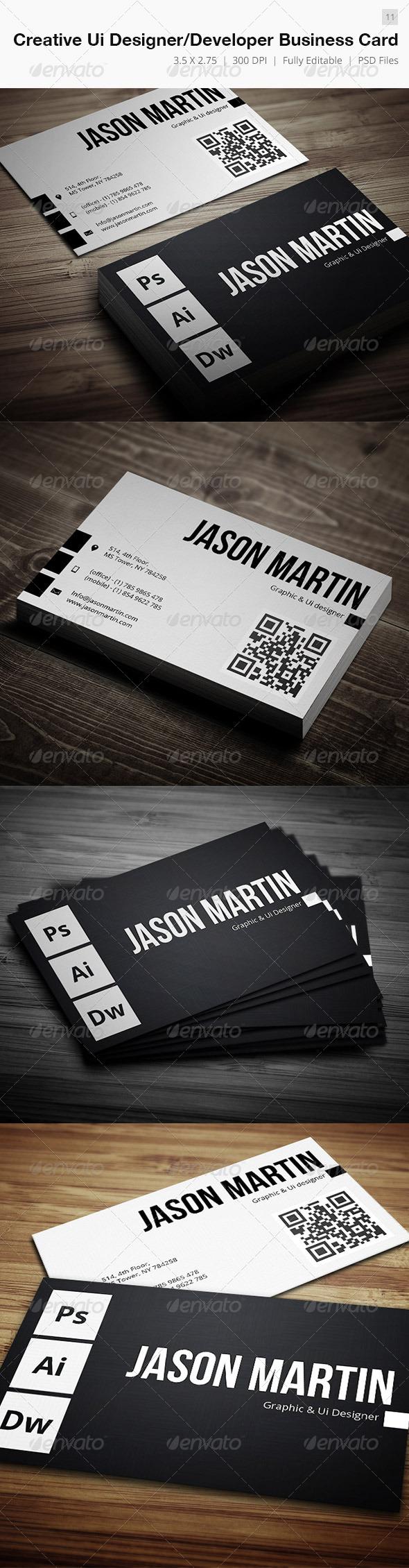 GraphicRiver Creative Ui Designer Developer Business Card 11 4688655