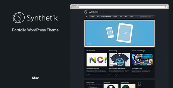 Synthetik Wordpress Theme - Portfolio Creative