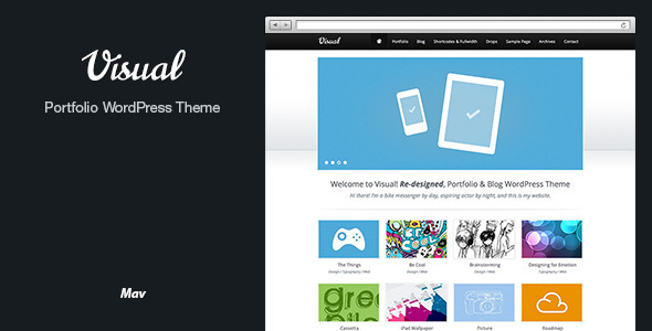 Visual HTML5 Wordpress Theme - Portfolio Creative