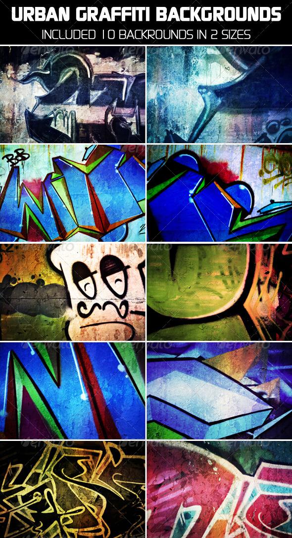 GraphicRiver Urban Graffiti Backgrounds V2 4688877