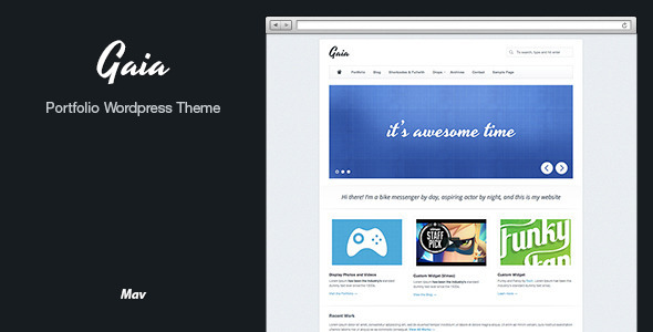 Gaia Wordpress Portfolio Theme - Portfolio Creative