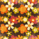 Retro Style Colorful Flower Seamless Pattern - GraphicRiver Item for Sale