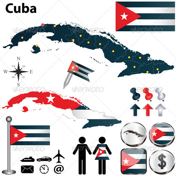 GraphicRiver Map of Cuba 4690336