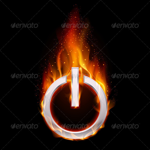 GraphicRiver Fiery Power Button 4690539