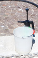 Plastic Bucket And Water Sprayer - PhotoDune Item for Sale