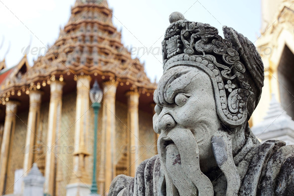 Guardian statue (yak) - Stock Photo - Images