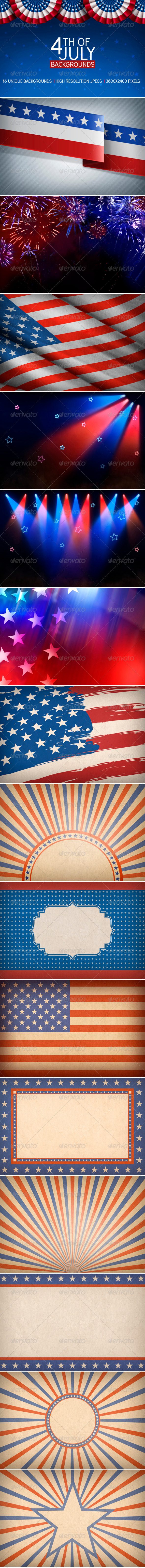 GraphicRiver 4th of July Backgrounds 4690864