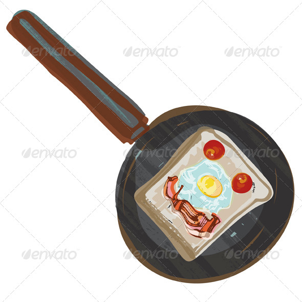 GraphicRiver Fried Breakfast in Frying Pan 4690897