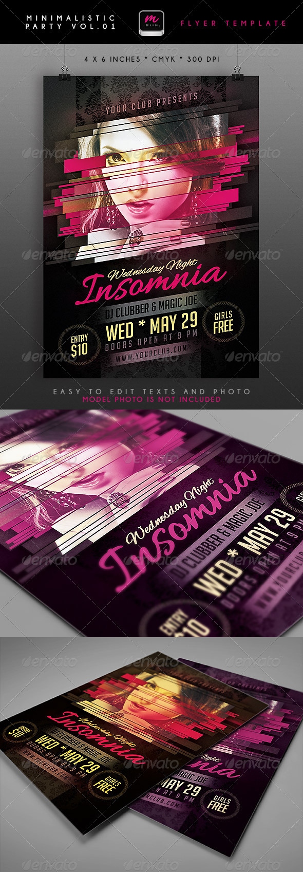 GraphicRiver Minimalistic Party Flyer 1 4690918