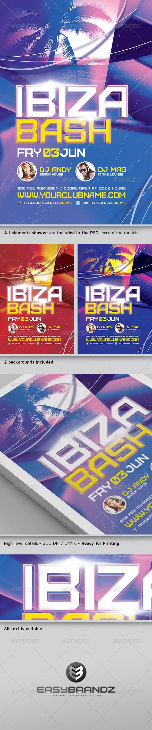 GraphicRiver Ibiza Bash Flyer Template 4621816