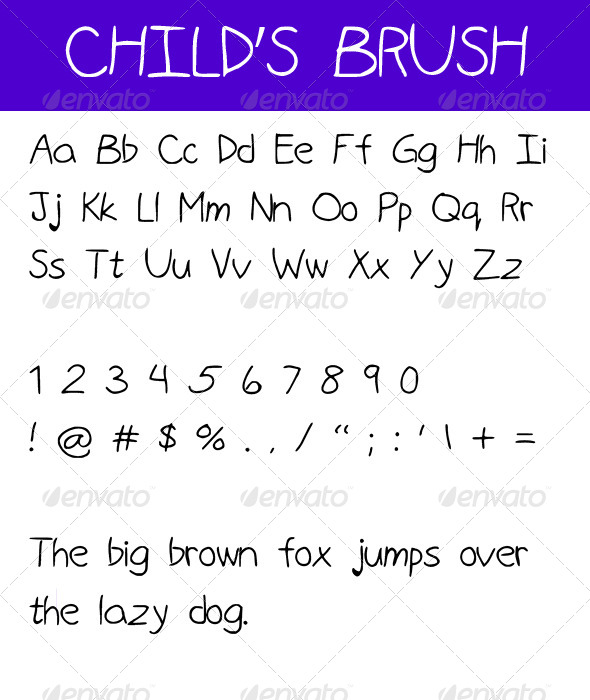 GraphicRiver Child s Brush 4623930