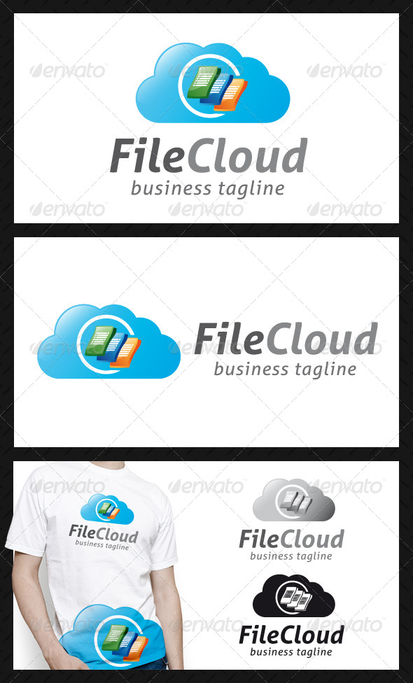 File Cloud Logo Template