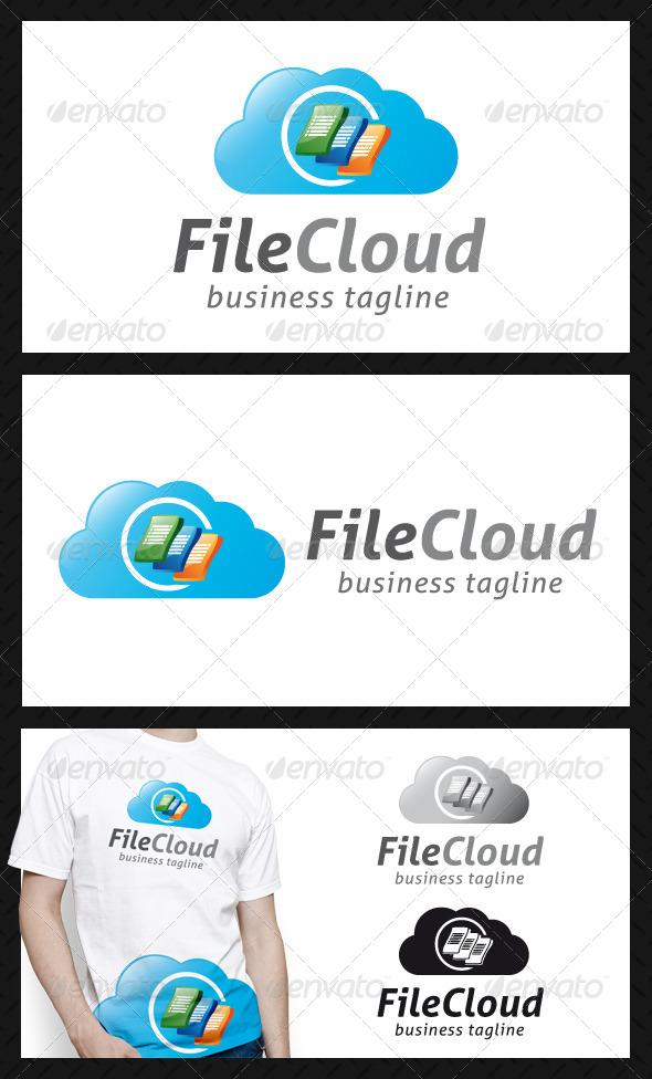GraphicRiver File Cloud Logo Template 4691526