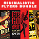 Minimalistic Party Flyers Bundle - GraphicRiver Item for Sale