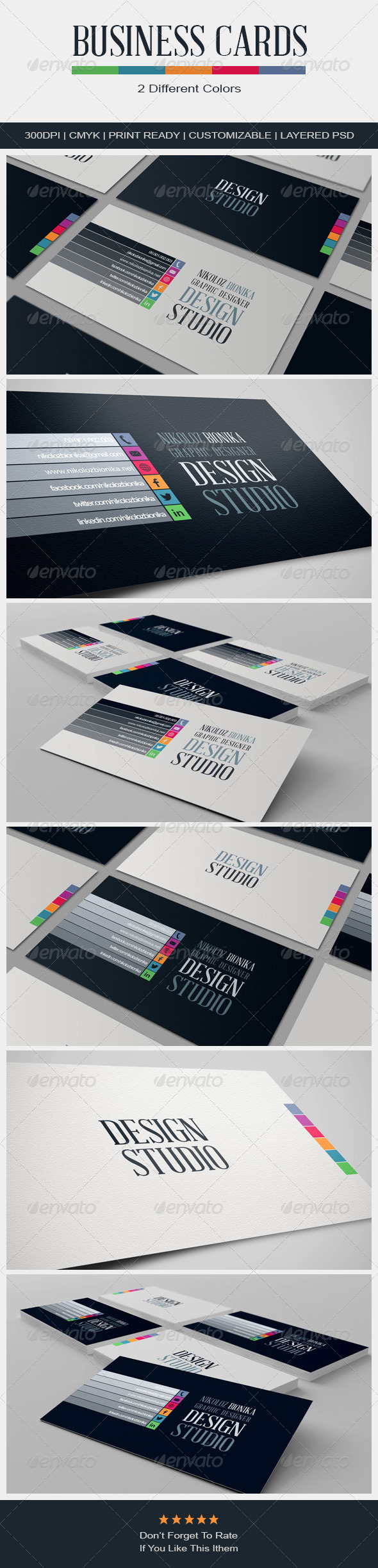 GraphicRiver Stylish Business Cards 4595090