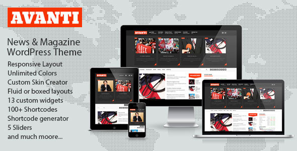 ThemeForest Avanti Mutlipurpose News & Magazine Theme 4604544
