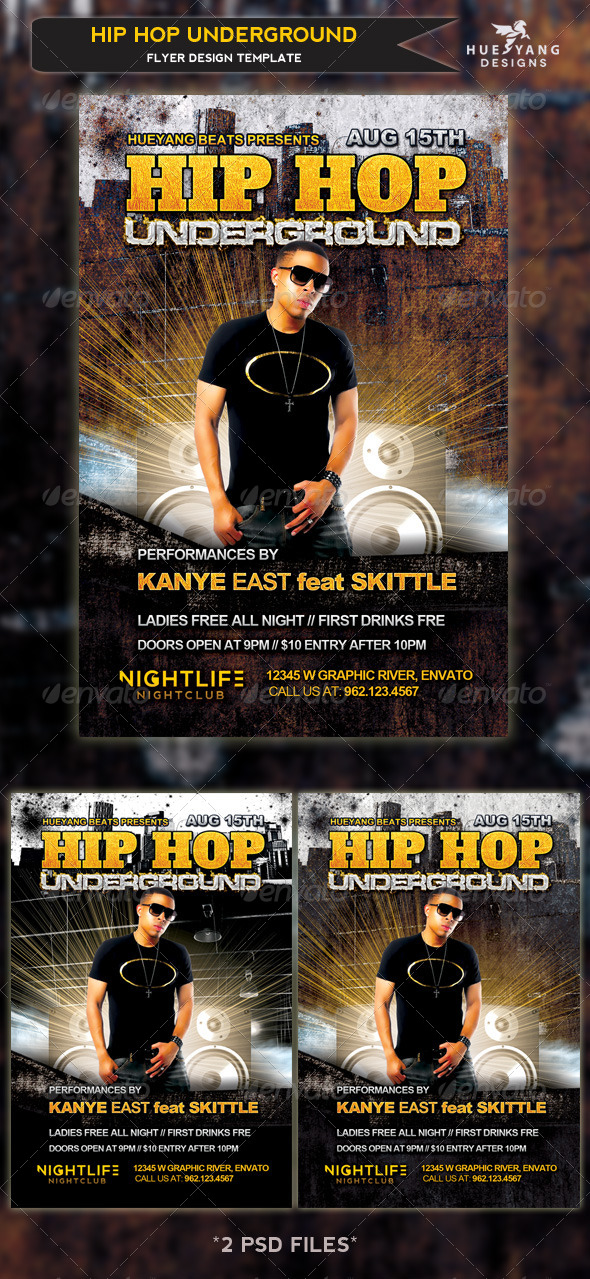 GraphicRiver Hip Hop Underground Flyer 4602028
