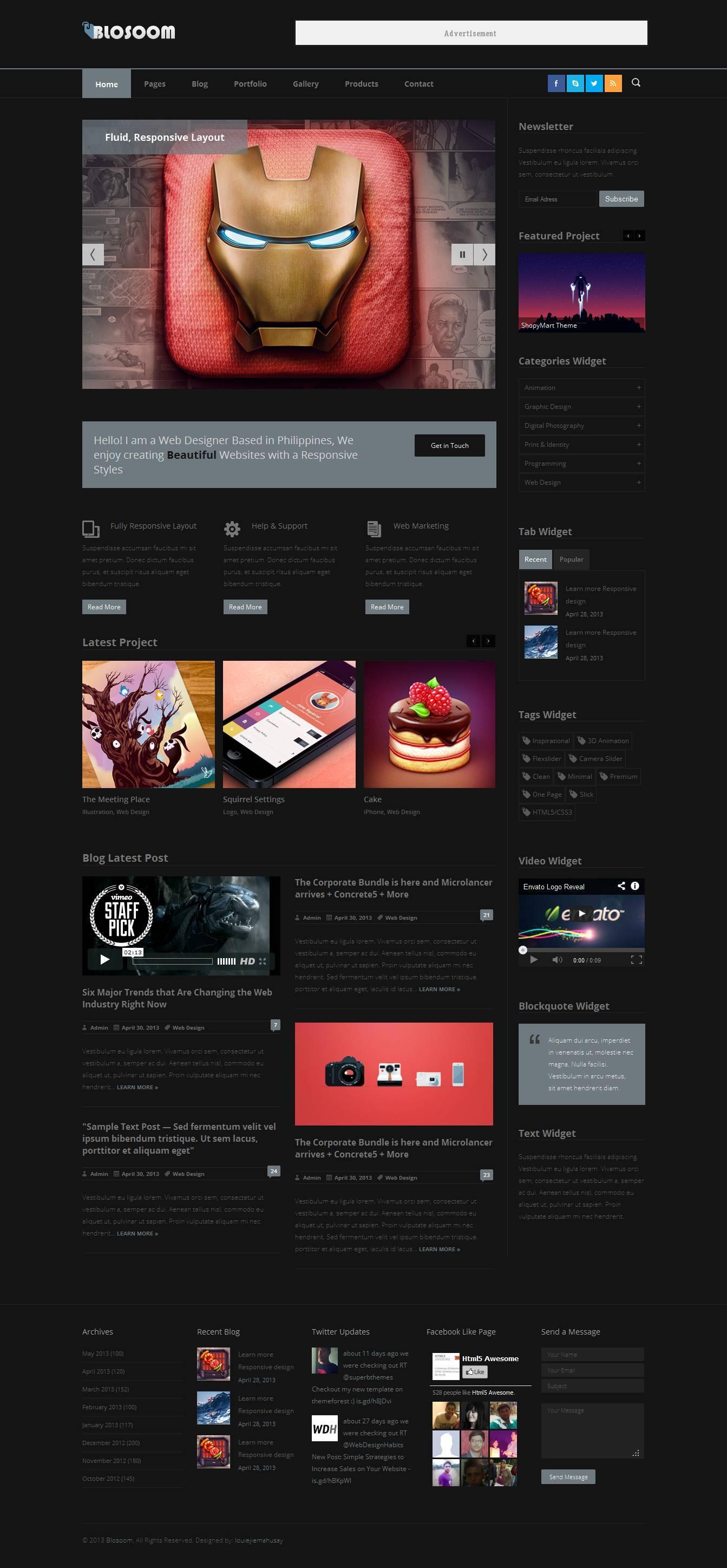 Blosoom - Responsive Business HTML5 Template -