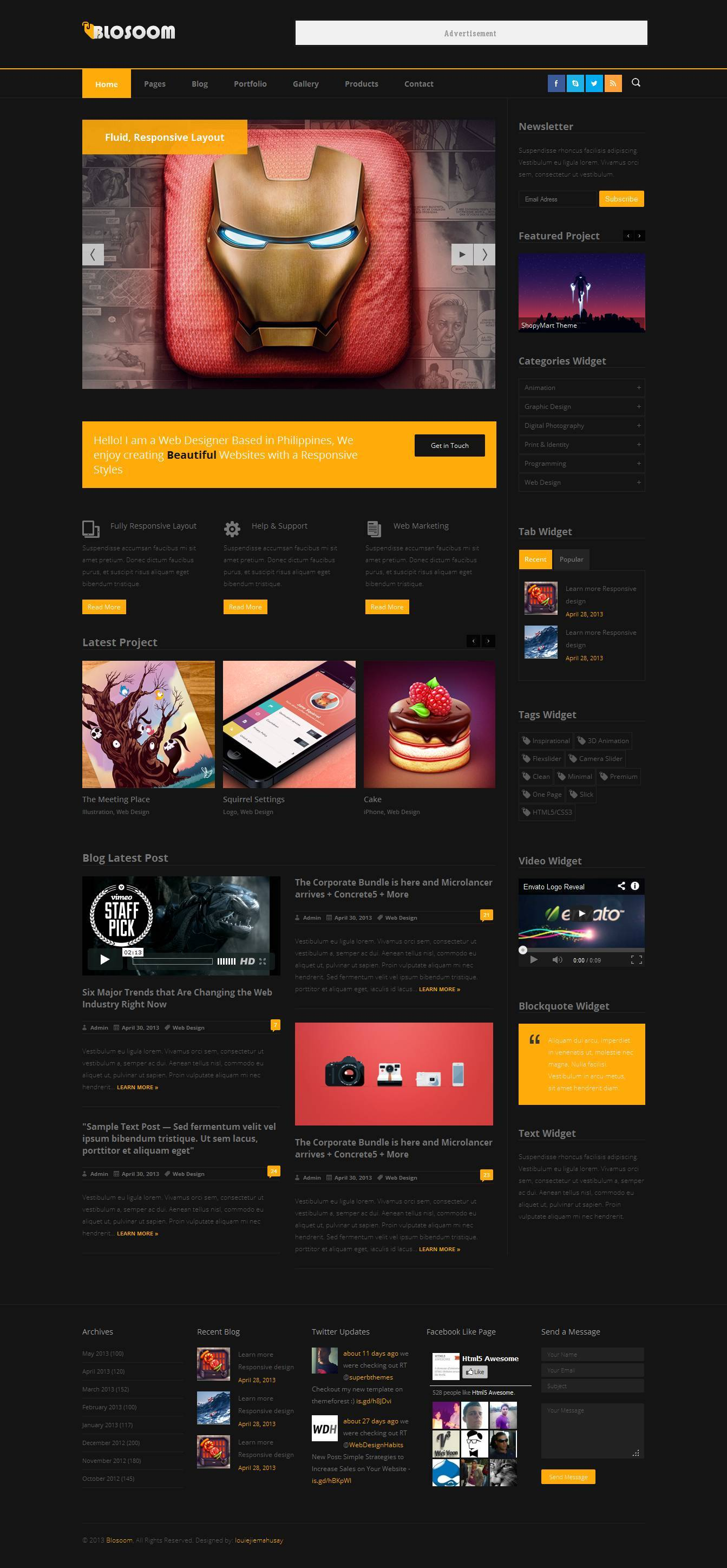 Blosoom - Responsive Business HTML5 Template -