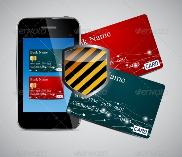 GraphicRiver Credit Card and Phone Vector Illustration 4692390
