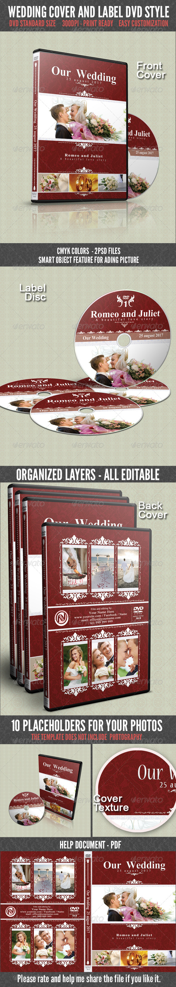 GraphicRiver Wedding DVD Cover 4608380