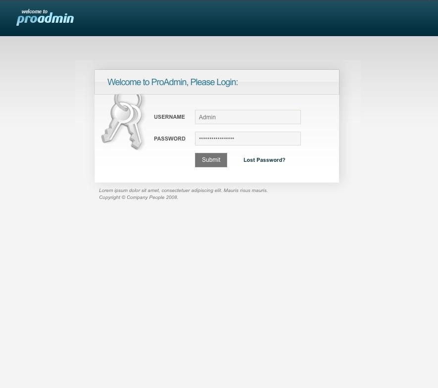 proAdmin Template