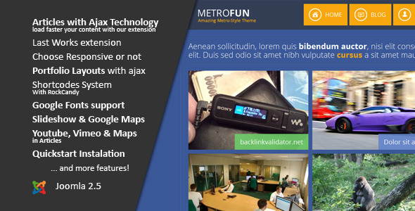 ThemeForest Metrofun Metro Style Joomla Template 4693456