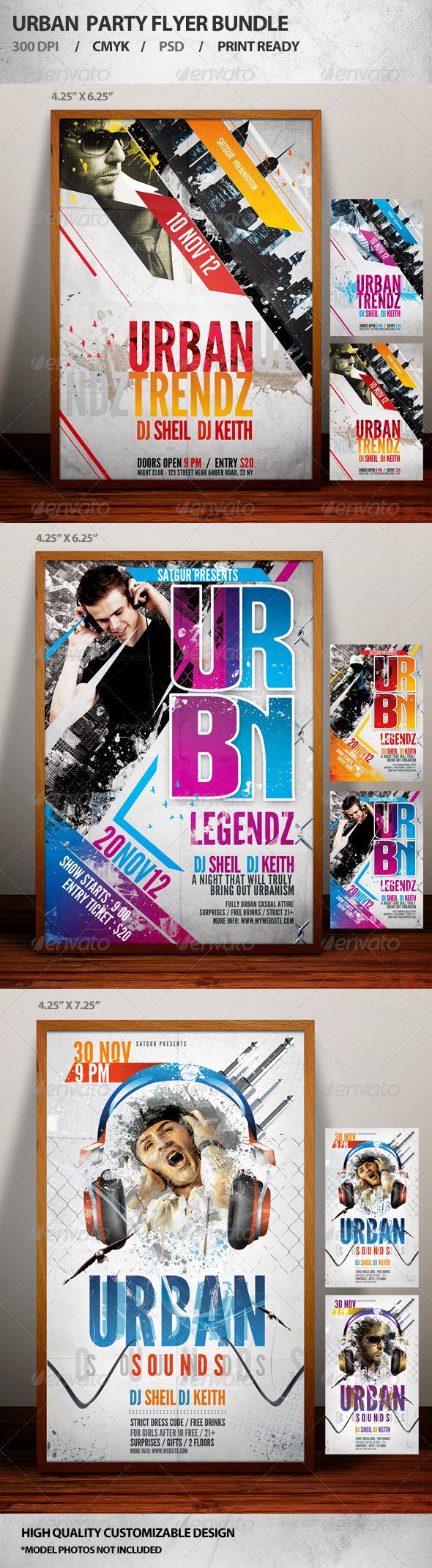Urban Party Flyer Bundle