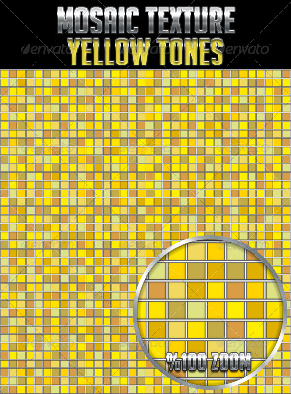 GraphicRiver Mosaic Texture Yellow Tones 4693679