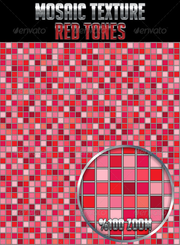 Mosaic Texture Red Tones