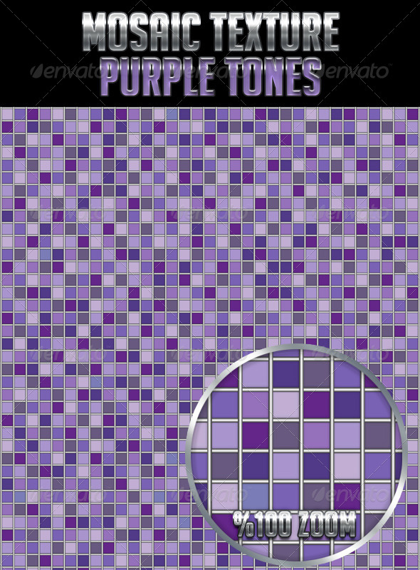 Mosaic Texture Purple Tones