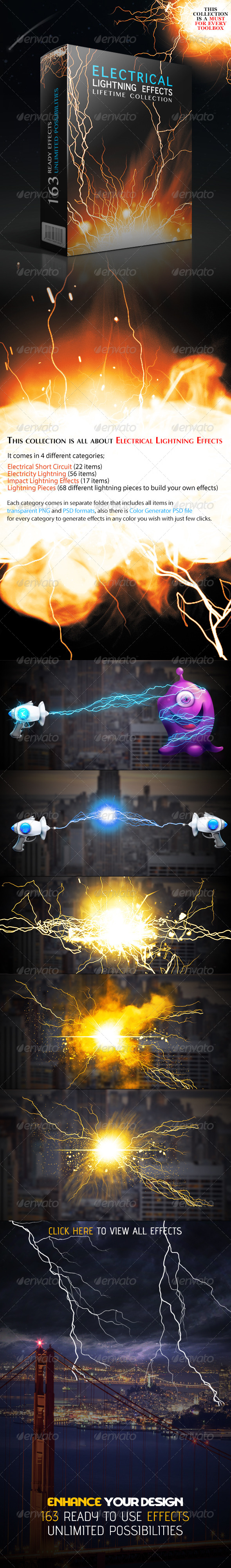 GraphicRiver Electrical Lightning Effects Collection 4693696