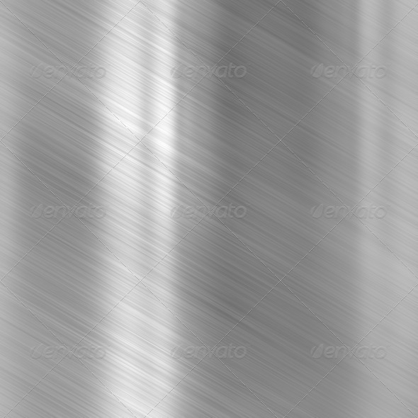 Brushed steel metallic plate - Stock Photo - Images