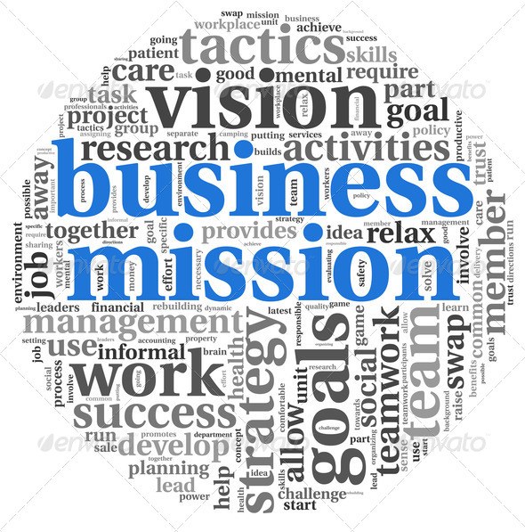 Business mission concept in word tag cloud - Stock Photo - Images