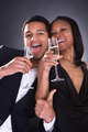 African Couple Enjoying Champagne Drink - PhotoDune Item for Sale